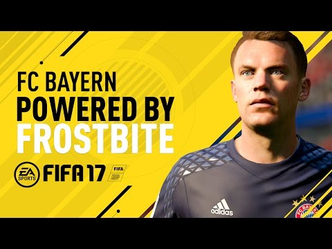 FC Bayern in FIFA 17 ft.  Neuer, Lewandowski, Costa, Coman, and Müller