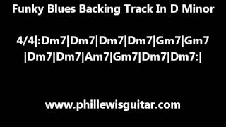 Funky Blues Backing Track In D Minor