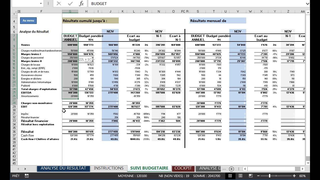 Modèle Excel de reporting PME - son utilisation by infogestion - YouTube