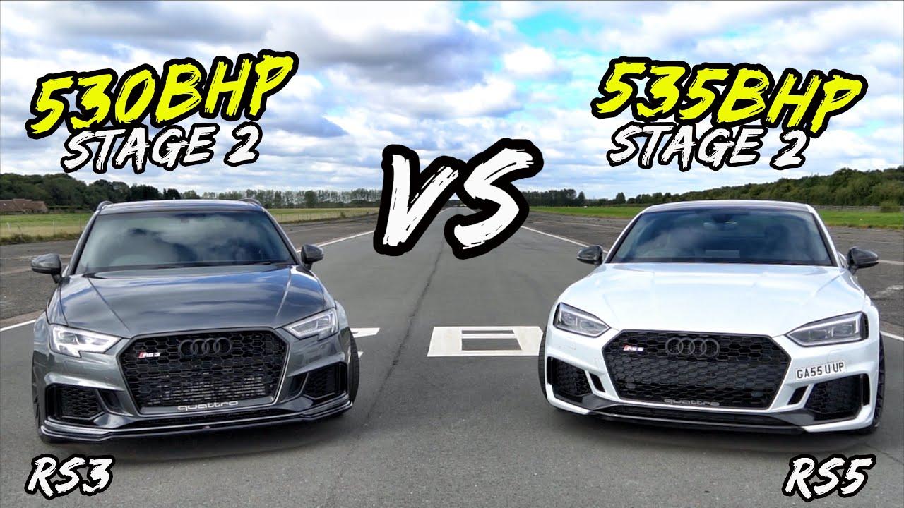 STAGE 2 530BHP AUDI RS3 VS STAGE 2 535BHP AUDI RS5 - OG BATTLES!