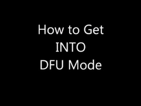 EASY DFU Mode TUTORIAL FOR IPHONE IPAD IPOD