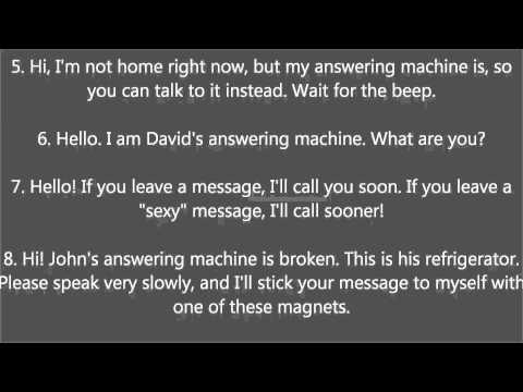 Answering Machine Messages Joke