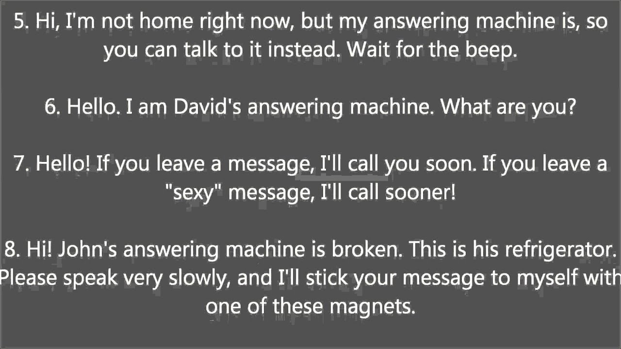 Answering Machine Messages Joke Youtube