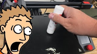 Better Bed Adhesion wİth a Little Glue Stick