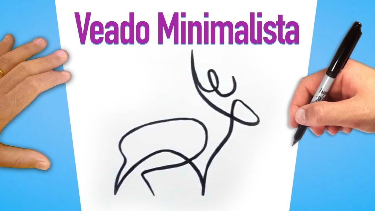 Como Desenhar Um Cervo Veado Minimalista Youtube