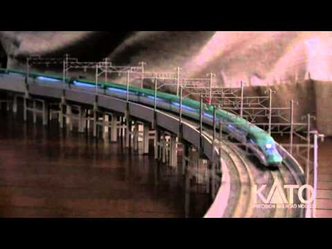 "Modelling Railroad Train Track Plans -Remarkable E5 ""Hayabusa"" Feature video from Kato Japan"