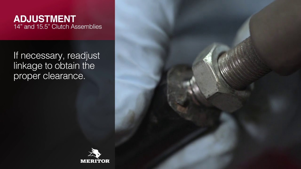 meritor just in time training series clutch adjustment and reset procedures [ 1280 x 720 Pixel ]