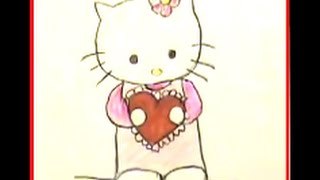 How to Draw Hello Kitty with a Heart! Easy, Step by Step