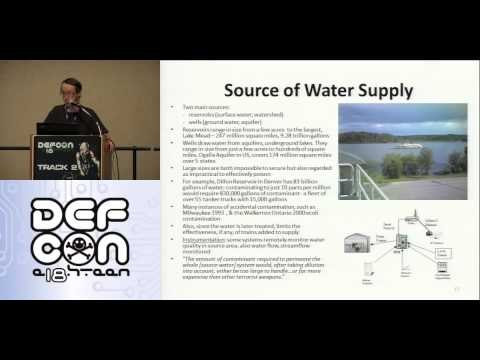 DEF CON 18 - John McNabb - Cyberterrorism and the Security of the National Drinking Water