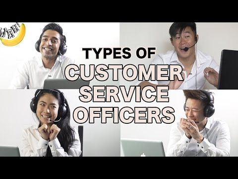Types of Customer Service Officers