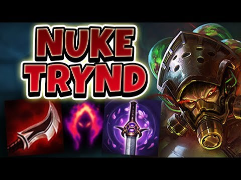 DARK HARVEST LETHALITY TRYNDAMERE! NUKE ENEMIES WITH 1 HIT AUTO!! - League Of Legends Full Gameplay