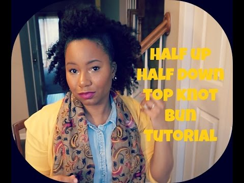 Half Bun Half Down Natural Hair Natural Hair Half up Half Down