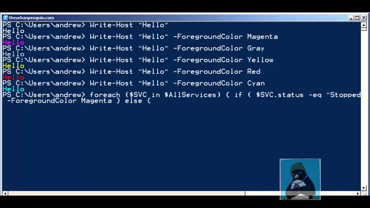 Powershell If ForEach and Color