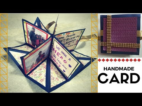 how to make birthday card for  father  \anniversary cards\diy greeting cards