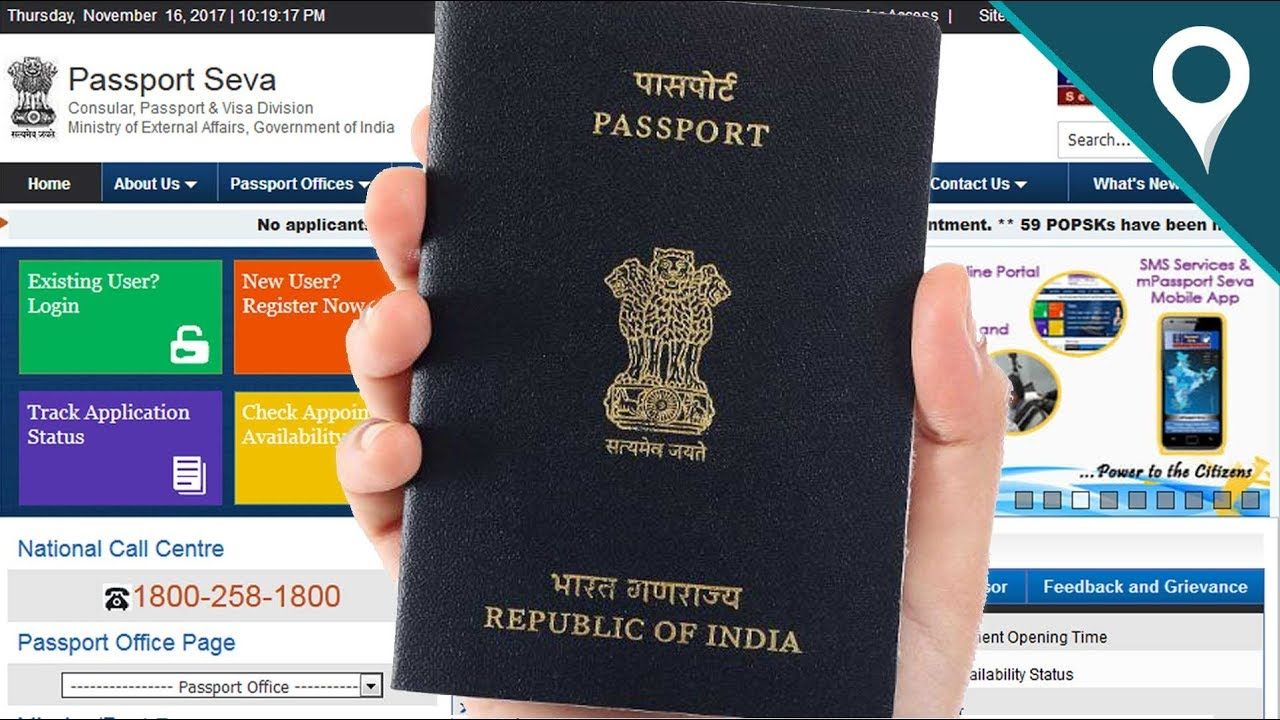 How To Apply Online Indian Passport Application Youtube