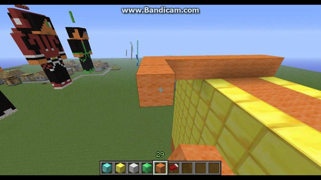 minecraft: comment construire une statue de personnage - YouTube