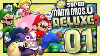 NEW SUPER MARIO BROS U DELUXE EPISODE 1 NINTENDO SWITCH CO-OP | LE RETOUR DE MARIO !