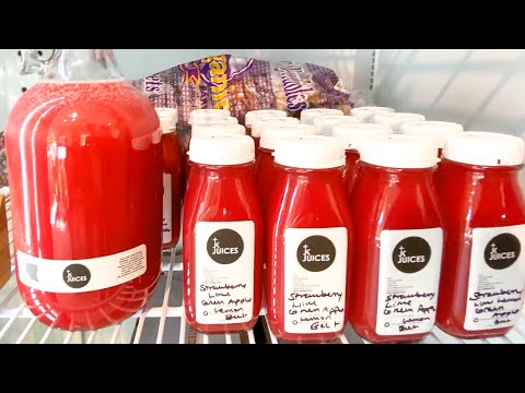 COLD PRESSED STRAWBERRY JUICE