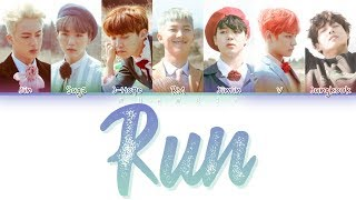 BTS (방탄소년단) - RUN (Color Coded Lyrics Eng/Rom/Han)