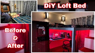 DiY Loft Bed | Budget Loft Bed | Small gaming room setup | Project #2