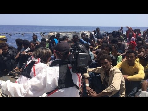 CNN witnesses dramatic migrant rescue in Mediterranean