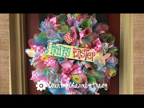 Easter Wreath With A Whole Lotta Ribbon!!