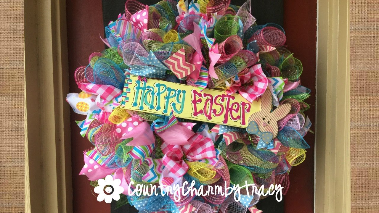 Easter Wreath With A Whole Lotta Ribbon Youtube