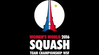 World Women's Team Squash - Day 4 Glass Court - French Commentary