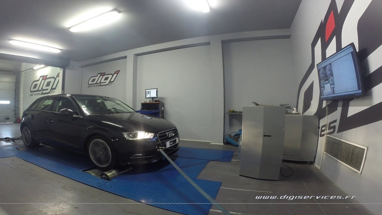 audi a3 1 6 tdi 105cv reprogrammation moteur 144cv digiservices paris 77 dyno youtube. Black Bedroom Furniture Sets. Home Design Ideas