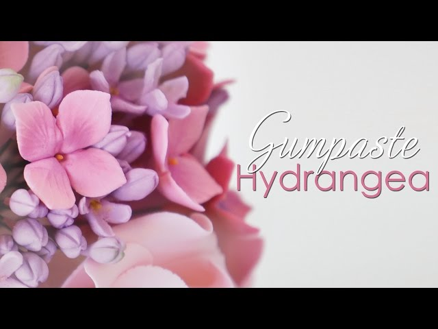 Gumpaste Hydrangea Flower Tutorial