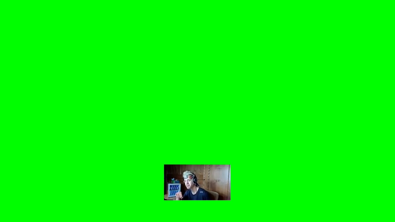 Ninja Reacts to Video Green Screen No Background Sound - YouTube