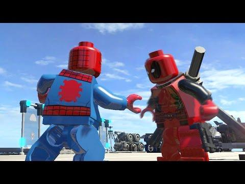 LEGO DEADPOOL VS SPIDERMAN (Battle) - LEGO Marvel Super heroes - YouTube