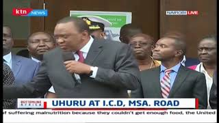 President Kenyatta makes second impromptu visit I.C.D. Mombasa Road