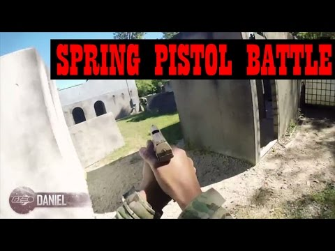 Airsoft Spring Pistol Battle - Get Out and Play! - Airsoft GI Gameplay