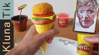 eating a clay icecream burger with gordon ramsay kluna tik dinner 86   asmr eating sounds no talk