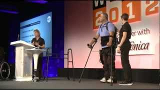 Live Exoskeleton Demo at Wired Talks 2012: Ekso Bionics