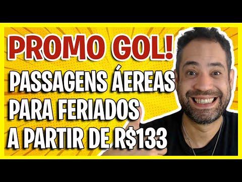 PROMO GOL! PASSAGENS AÉREAS PARA FERIADOS A PARTIR DE R$133