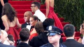 Derek Jeter & Hannah Davis debut at Met Gala 2015