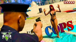 COPS LOS SANTOS | Officer Pain Patrols The Beach!! GTA 5 CUSTOM COP MOD