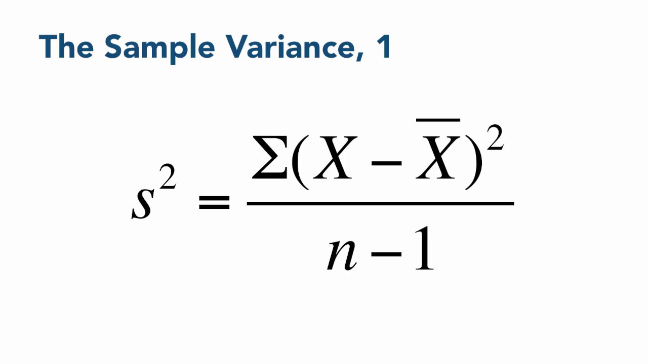 The Sample Variance Data Sense 0407 YouTube – Sample Variance