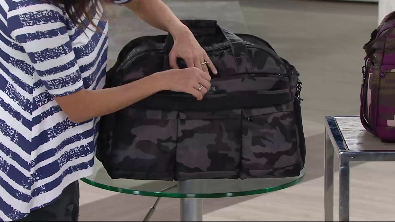 Lug Quilted Weekender Bag Airbus 2 On Qvc Youtube