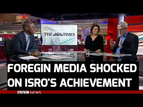 FOREGIN  MEDIA ON 104 SATELLITES LAUNCHED BY ISRO [SHOCKED]