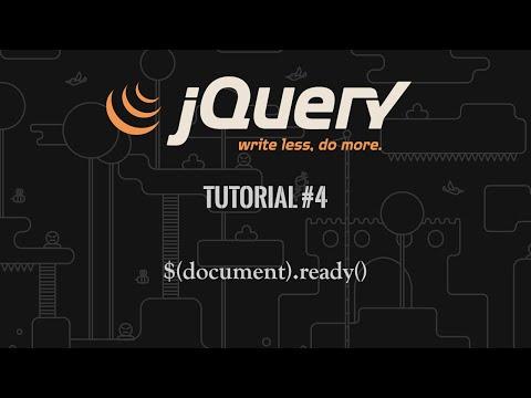 jQuery Tutorial 4: $(document).ready()