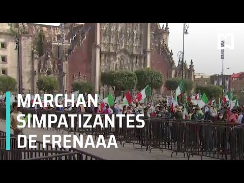Marchan simpatizantes de FRENAAA en la CDMX - Las Noticias