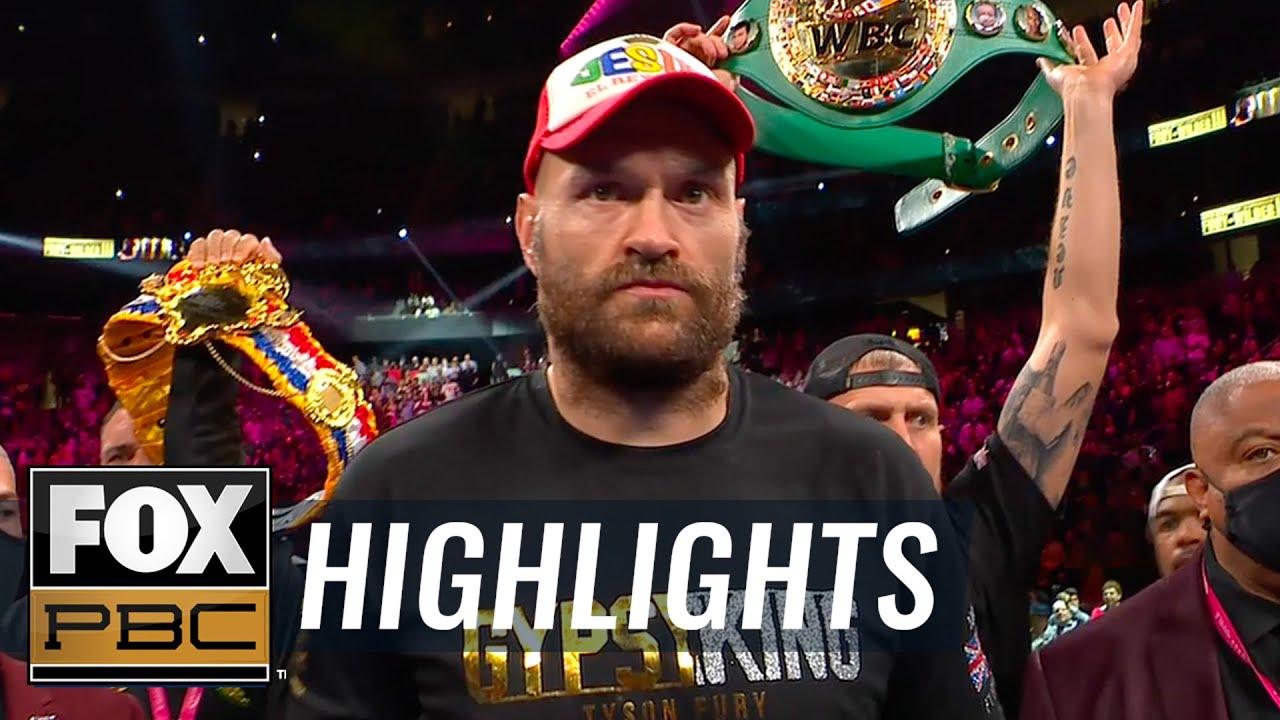 Top moments from Tyson Fury vs. Deontay Wilder III | PBC on FOX