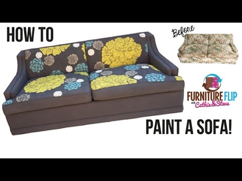 How To Paint A Sofa Youtube