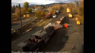 10/25/2018 The 2 work trains return to Chama, NM