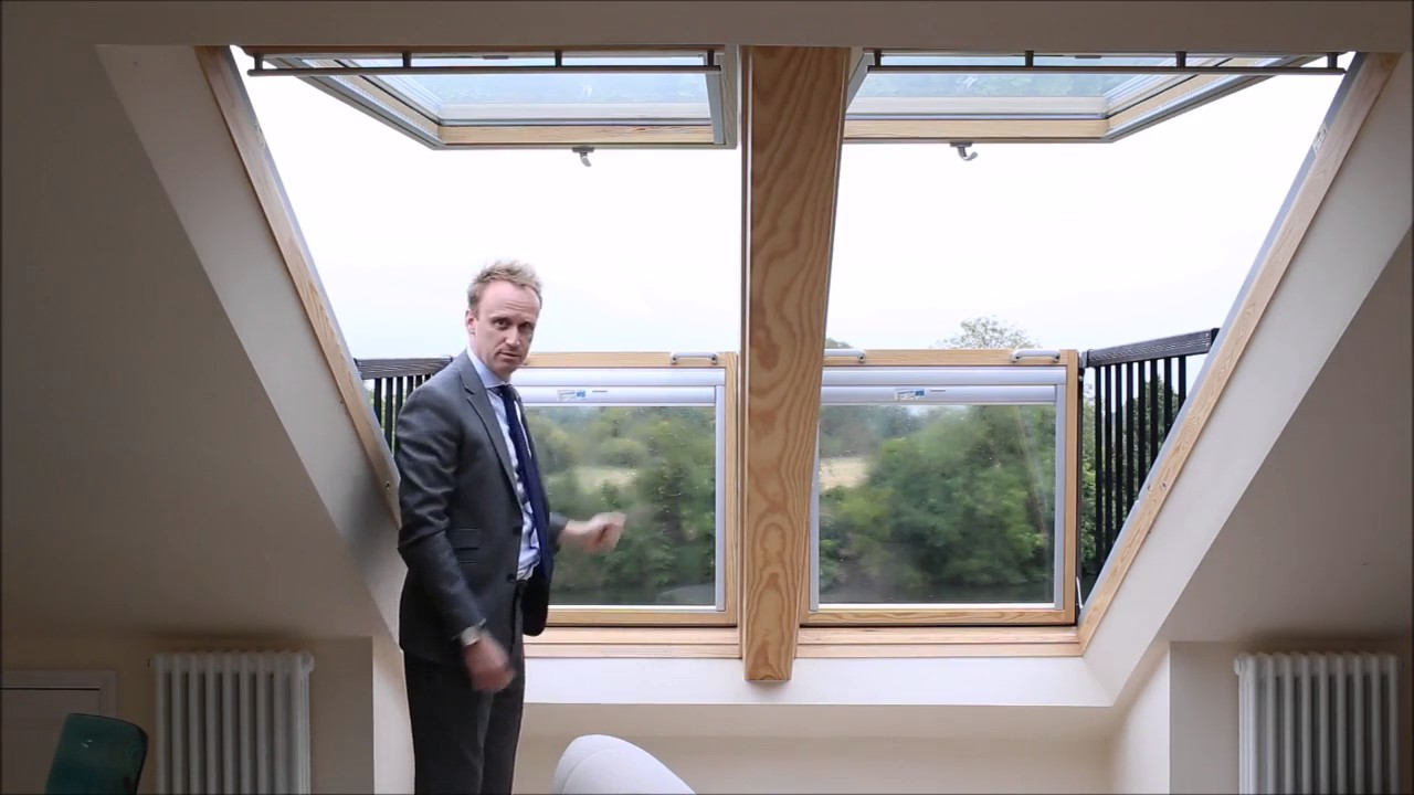Velux cabrio balcony windows youtube for Velux balcone