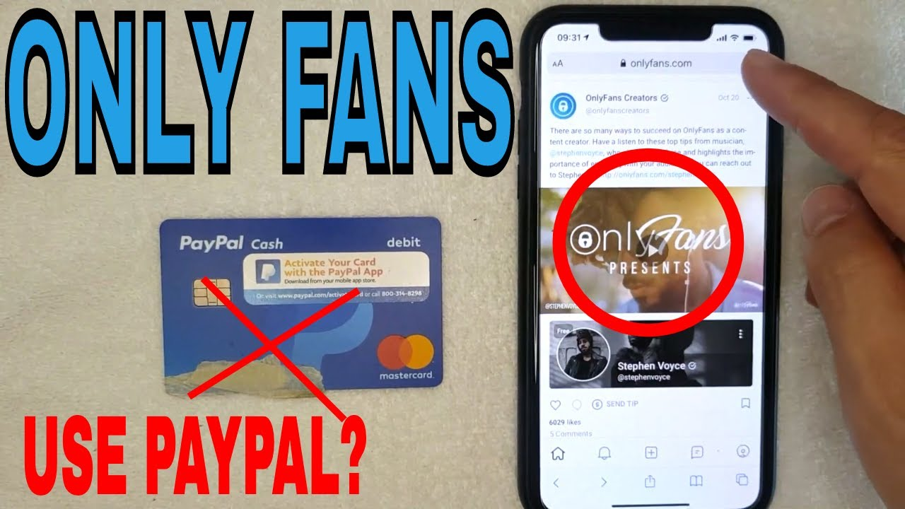 Onlyfans paypal