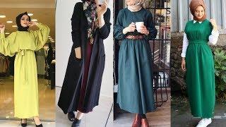 14ffe3b39 فساتين محجبات خريف وشتاء 2019 - Hijab Lookbook ...